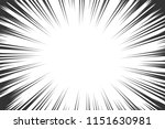 comic book radial lines... | Shutterstock .eps vector #1151630981
