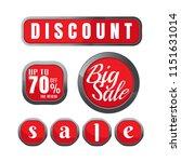 discount 70 percent. big sale.... | Shutterstock .eps vector #1151631014