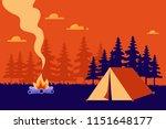 beautiful horizontal nature...   Shutterstock .eps vector #1151648177