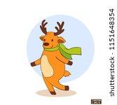 vector image. christmas icon... | Shutterstock .eps vector #1151648354