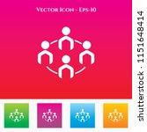 team icon in colored square box.... | Shutterstock .eps vector #1151648414