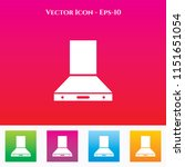 kitchen chimney icon in colored ... | Shutterstock .eps vector #1151651054