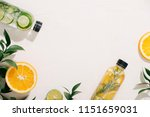 leaves and bottle tropical... | Shutterstock . vector #1151659031