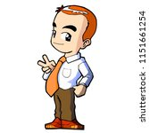 funny and cute handsome... | Shutterstock .eps vector #1151661254