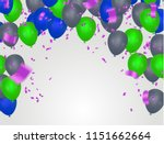 birthday card with blue and... | Shutterstock .eps vector #1151662664