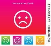 sad emoji or smiley icon in... | Shutterstock .eps vector #1151664881