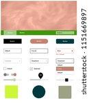 light multicolor vector ui kit...