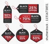 set of black friday price tag... | Shutterstock .eps vector #1151673851