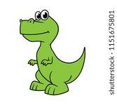 cartoon theropod dinosaur | Shutterstock .eps vector #1151675801