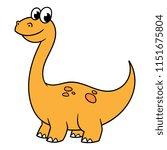 cartoon sauropod dinosaur | Shutterstock .eps vector #1151675804