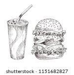 cold soft beverage and huge...   Shutterstock .eps vector #1151682827