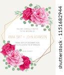 wedding floral  invitation ...   Shutterstock .eps vector #1151682944