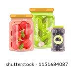 preserved vegetables vector... | Shutterstock .eps vector #1151684087
