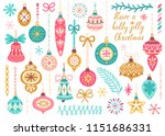 vector set of christmas... | Shutterstock .eps vector #1151686331
