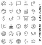 thin line vector icon set  ... | Shutterstock .eps vector #1151702894