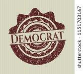 red democrat distressed rubber... | Shutterstock .eps vector #1151703167