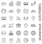 thin line vector icon set  ...   Shutterstock .eps vector #1151703851