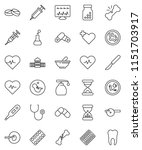 thin line vector icon set  ... | Shutterstock .eps vector #1151703917