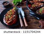 karniyarik   stuffed eggplants  ...   Shutterstock . vector #1151704244