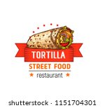 tortilla street food cafe or... | Shutterstock .eps vector #1151704301