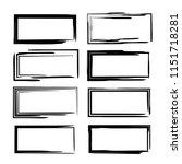 set of black linear grunge... | Shutterstock .eps vector #1151718281