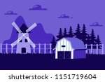 beautiful horizontal farm field ... | Shutterstock .eps vector #1151719604