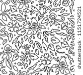 simple black and white flowers... | Shutterstock .eps vector #1151724521