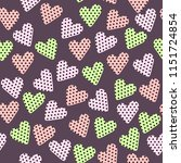 vector seamless pattern with... | Shutterstock .eps vector #1151724854