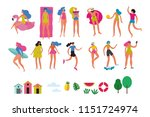 summertime  holidays poster and ... | Shutterstock .eps vector #1151724974