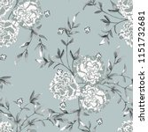 trendy floral background with... | Shutterstock .eps vector #1151732681