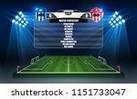 soccer arena field with bright... | Shutterstock .eps vector #1151733047
