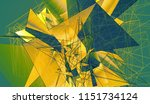 bright gold and green... | Shutterstock . vector #1151734124