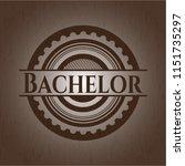 bachelor vintage wooden emblem   Shutterstock .eps vector #1151735297