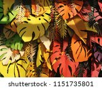 monstera paper foliage... | Shutterstock . vector #1151735801
