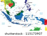 indonesia map | Shutterstock .eps vector #115173907