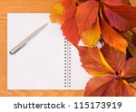 background from the autumn... | Shutterstock . vector #115173919