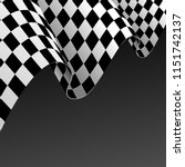 realistic detailed 3d checkered ... | Shutterstock .eps vector #1151742137