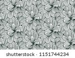 doodle seamless pattern for... | Shutterstock .eps vector #1151744234