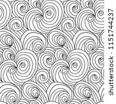 doodle seamless pattern for...   Shutterstock .eps vector #1151744237
