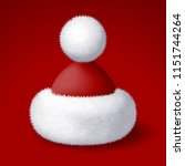 realistic vector santa hat with ...   Shutterstock .eps vector #1151744264