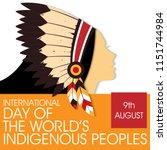 international day of the world... | Shutterstock .eps vector #1151744984