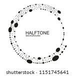 halftone frame background... | Shutterstock .eps vector #1151745641