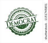 green democrat rubber stamp... | Shutterstock .eps vector #1151745851