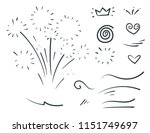 vector hand drawn collection of ... | Shutterstock .eps vector #1151749697