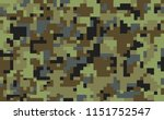 pixel camouflage seamless... | Shutterstock .eps vector #1151752547