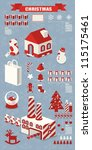 info graphic  christmas elements | Shutterstock .eps vector #115175461