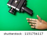 a wooden hand reaches out to... | Shutterstock . vector #1151756117