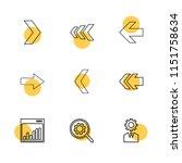 graph  setting  gear  arrows ... | Shutterstock .eps vector #1151758634