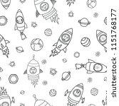 space animals seamless vector... | Shutterstock .eps vector #1151768177