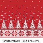 christmas design. fair isle... | Shutterstock .eps vector #1151768291